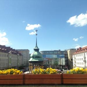 Quảng trường nhìn từ phòng họp tòa thị chính Magdeburg